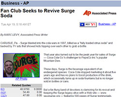 SaveSURGE.org in the AP